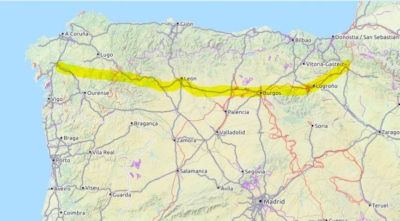 Karte Camino Francés